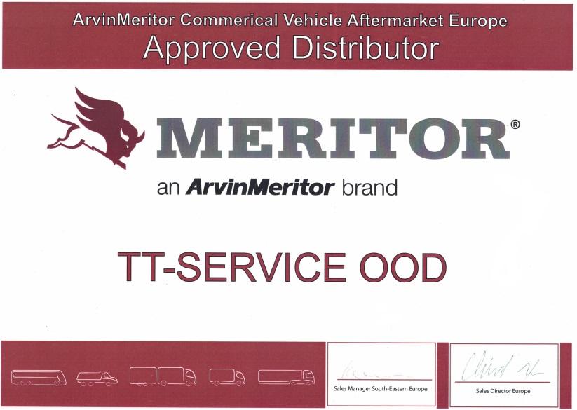 TT Service Meritor Certificate