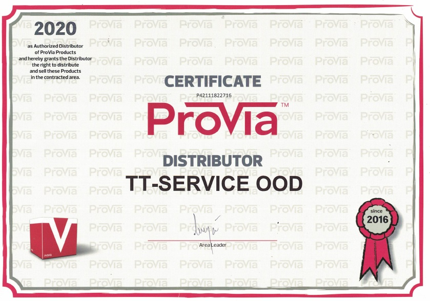 TT Service Provia Certificate